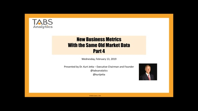 Part 4 - New Business Metrics with the Same Old Market Data