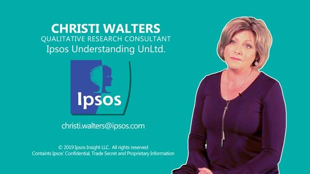 IPSOS – Christi Walters – Moderator Bio