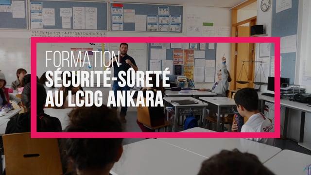 Formation sécurité-sûreté au lycée CDG d'Ankara