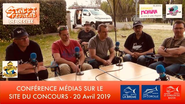 STREET FISHING DE DECIZE CONFERENCE MEDIA A DECIZE SUR LE SITE DE L' EVENEMENT