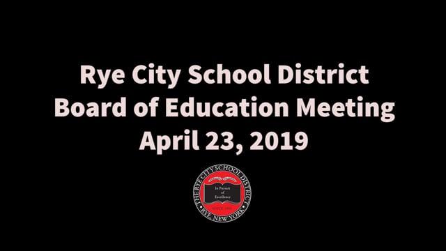 RCSD BOE 4-23-2019