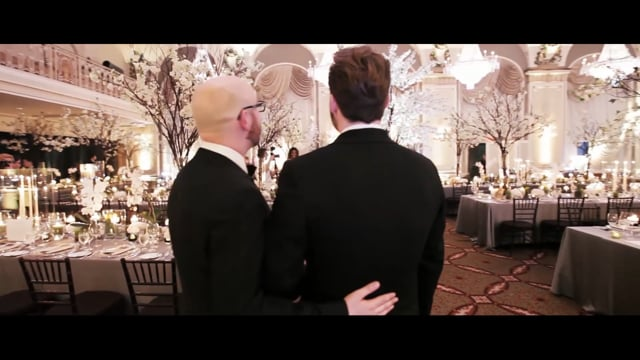 Luxury Same Sex Wedding at the Chateau Frontenac Quebec City