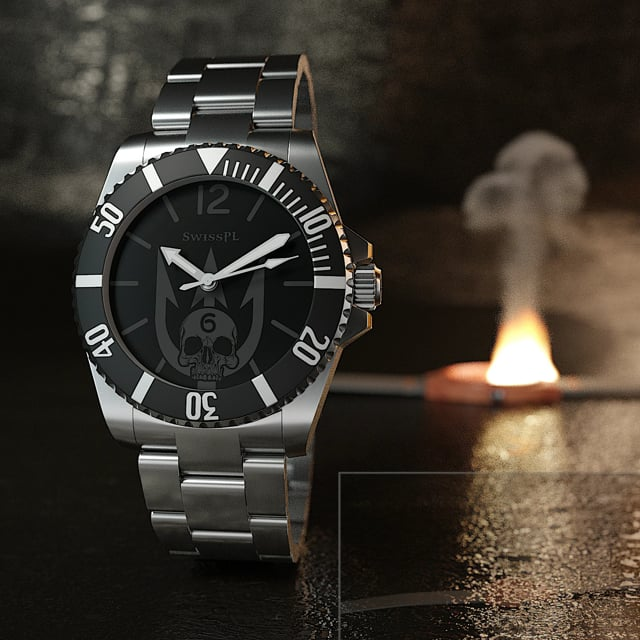 SwissPL Classic with burning woodwatch