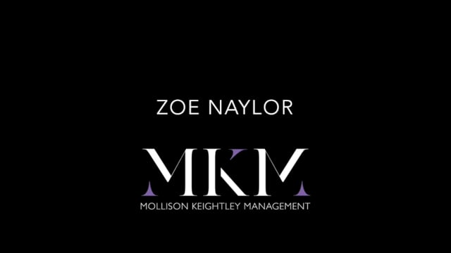 Showreel for Zoe Naylor