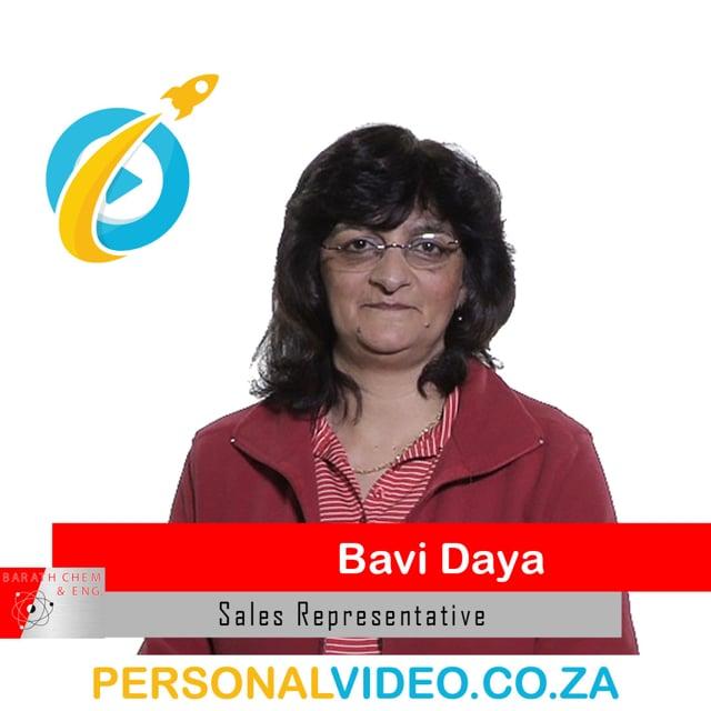 Bavi Daya, #SalesRepresentative of Barath Chemicals, Square Video #PersonalVideo.co.za (2019-08-01)