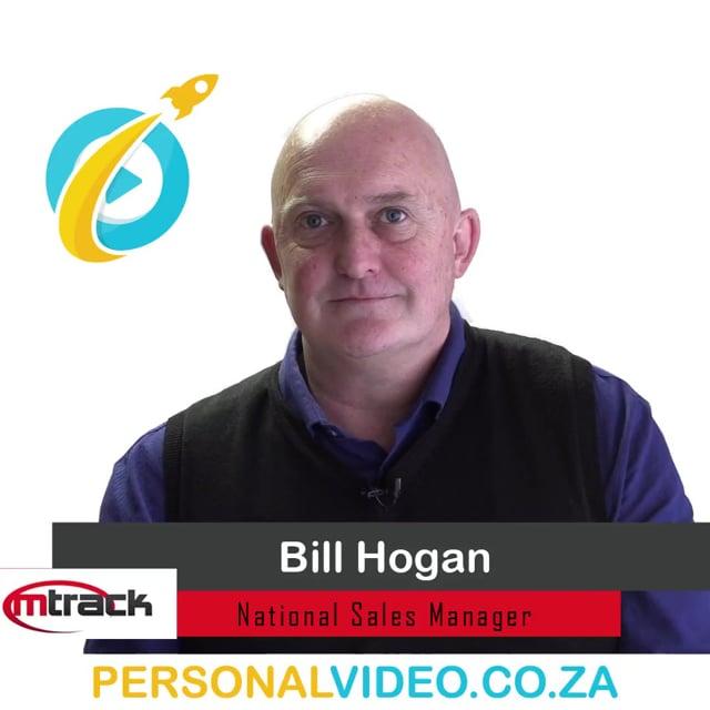 Bill Hogan, #NationalSalesManager of M Track, Square Video #PersonalVideo.co.za (2019-08-05)