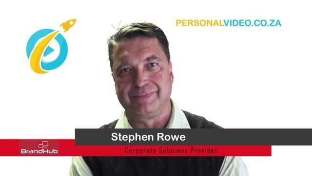 Stephen Rowe, #CorporateSolutionsProvider of M Track, HD Video #PersonalVideo.co.za (2019-08-05)