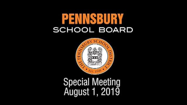 Pennsbury School Board Meeting For August 1, 2019