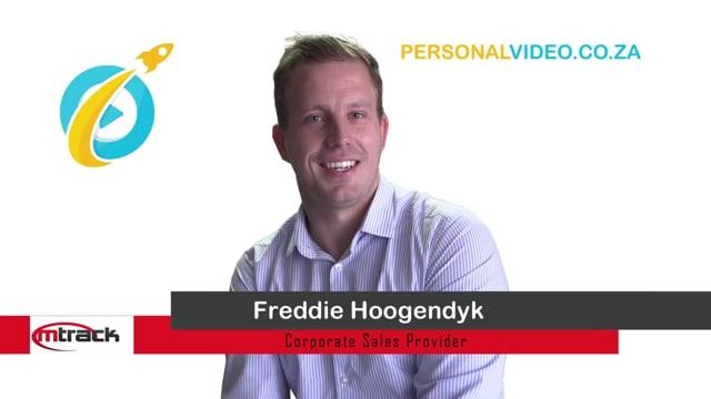 Freddie Hoogendyk, #CorporateSalesProvider of M Track, HD Video #PersonalVideo.co.za (2019-08-29)