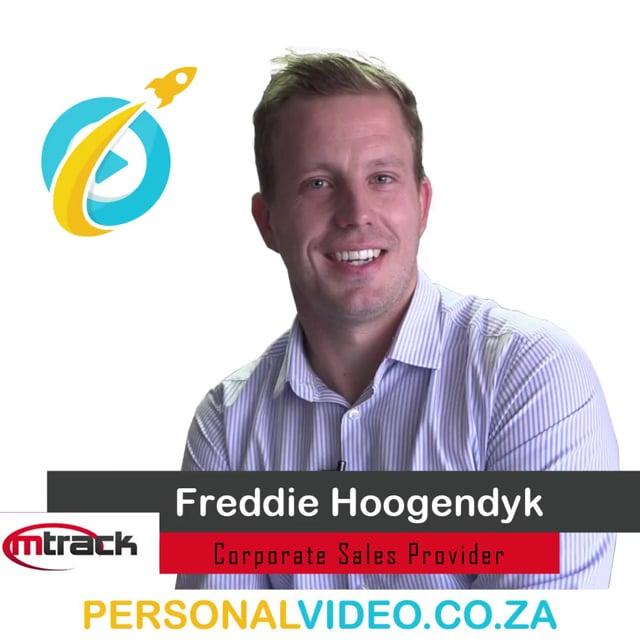 Freddie Hoogendyk, #CorporateSalesProvider of M Track, Square Video #PersonalVideo.co.za (2019-08-29)
