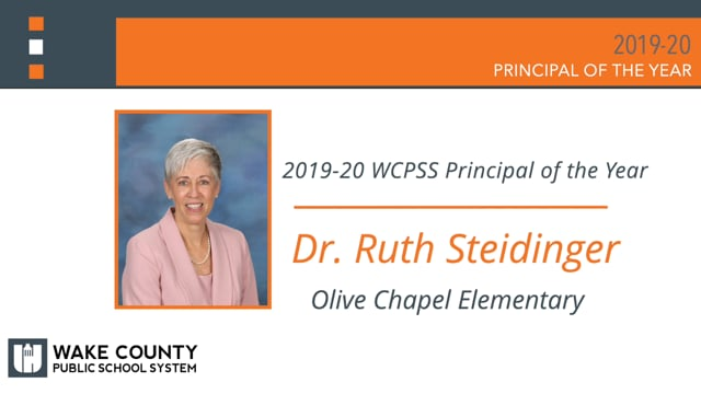 WCPSS Principal of the Year Ruth Steidinger 2019-20 Final