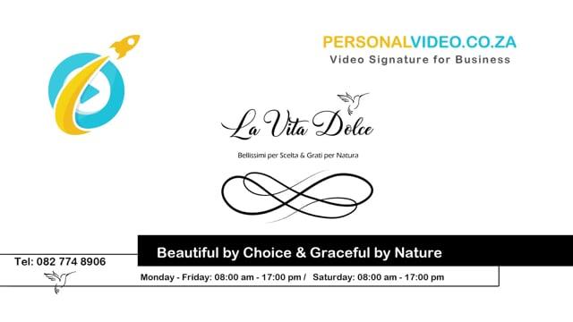 La Vita Dolce, Business of #BeautyBoutique, HD Video #PersonalVideo.co.za (2019-08-26)