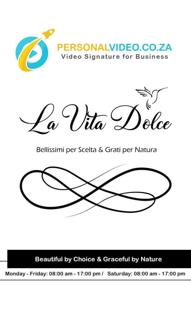 La Vita Dolce, Business of #BeautyBoutique, Vertical Video #PersonalVideo.co.za (2019-08-26)