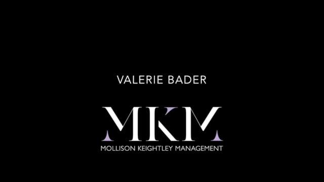 Showreel for Valerie Bader