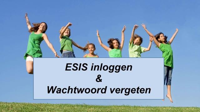 ESIS: ESIS inloggen & wachtwoord vergeten