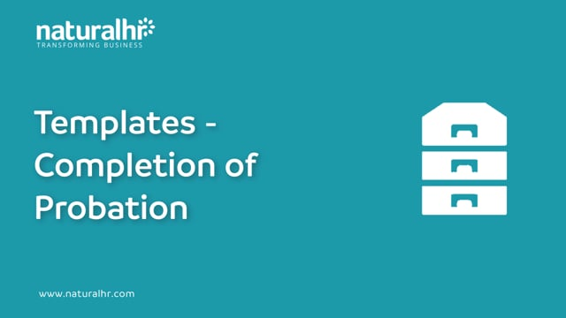 Templates - Completion of probation
