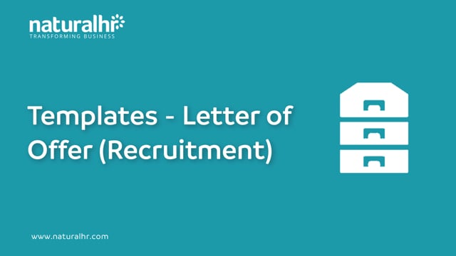 Templates - Letter of offer