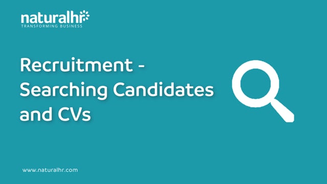 Recruitment - Searching candidates and CVs