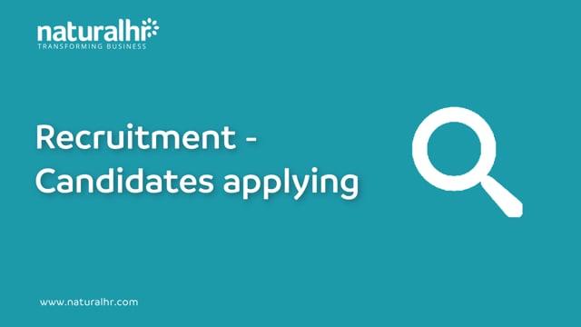 Recruitment - Candidates Applying