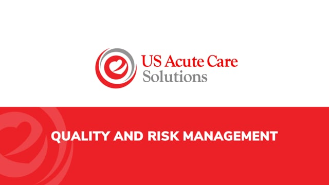 USACS – Quality and Risk Management