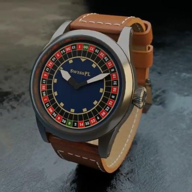 Roulette timepiece by SwissPL