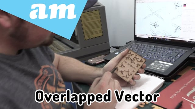 Overlapping vector engravement design using the TruCUT Laser Cutting Machine- Explained and Tested