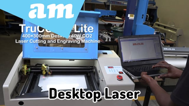 Introducing AM's TruCUT Lite Desktop Laser Cutting and Engraving Machine for Hobby and Small Workshop