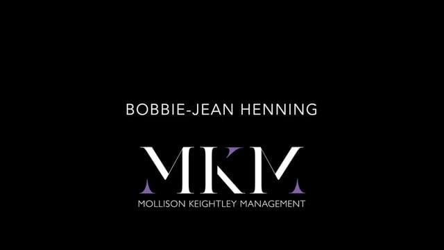Showreel for Bobbie-Jean Henning