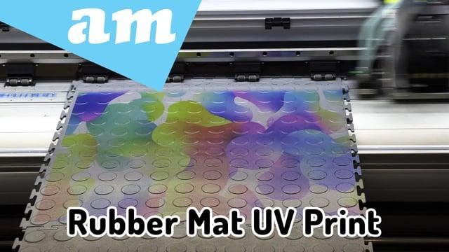 #SortIT, Rubber Floor Mat Printed on FastCOLOUR Flatbed LED-UV Hybrid Printer Tested