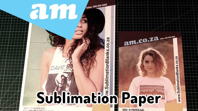 AM.CO.ZA New Sublimation and Heat Transfer Paper for Dark and Light, Polyester and Cotton Fabric