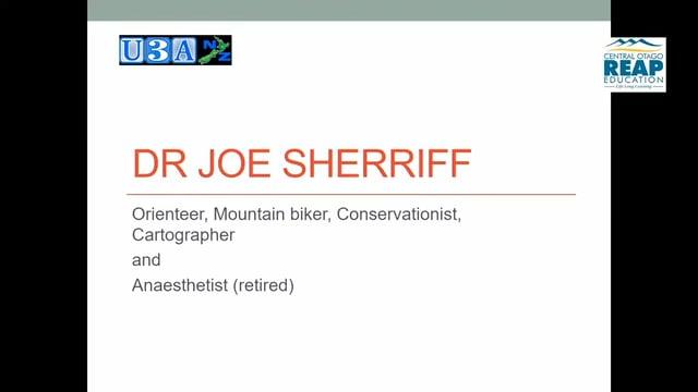 U3A - Dr Joe Sherriff - Anesthetist