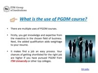 Benefits of PGDM Course