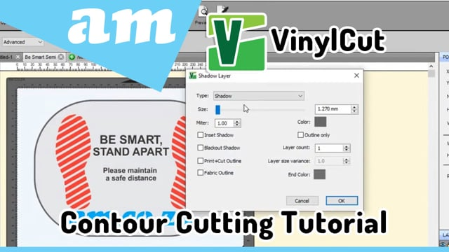 #SortIT, How to Use VinylCut Software for Contour Cutting on V-Smart and V-Smart Plus Vinyl Cutters