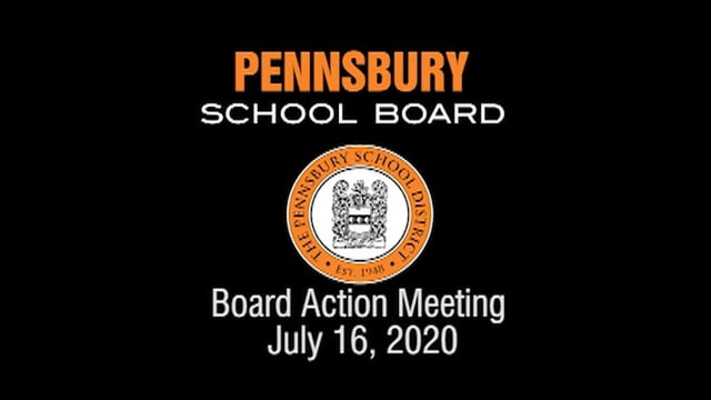 Pennsbury School Board Meeting for July 16, 2020