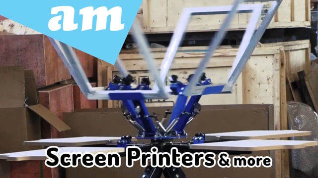 4 Stations and 6 Stations Screen Printer, Screen Printing Accessories and Consumables