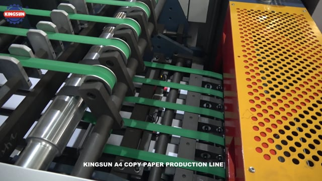 TWO PAPER ROLL A4 COPY PAPER CUTTING AND PACKAGING MACHINE