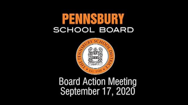 Pennsbury School Board Meeting for September 17, 2020