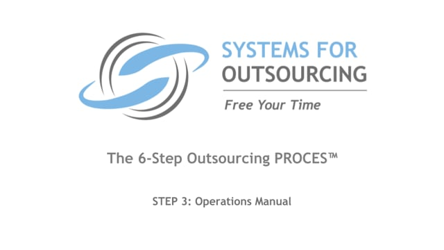 STEP 3: Operations Manual