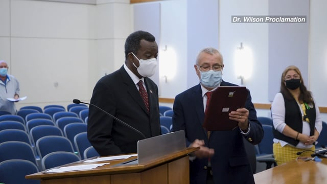 Dr. Willie Wilson Proclamation