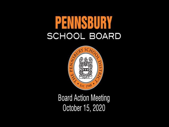 Pennsbury School Board Meeting for October 15, 2020