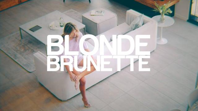 blonde brunette