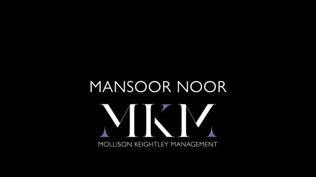 Showreel for Mansoor Noor