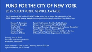 2015 Fund for the City of New York Sloan Public Service Awards