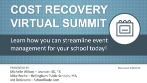 Cost Recovery Virtual Summit