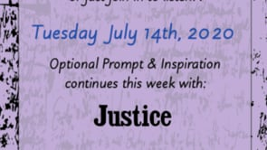 7.14.20 Writing & Poetry Zoom Readings: Justice
