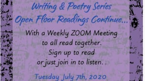 7.07.20 Writing & Poetry Zoom Readings: Justice
