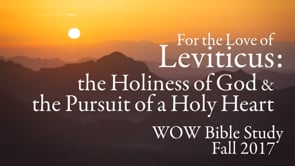 WOW Bible Study: Leviticus Fall 2017