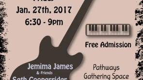 1.27.17 Music Series: Jemima James, Seth Cooperider, Stephen Hart