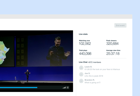 New! Powerful engagement and insights for your live events