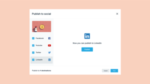 Publish to social, now for LinkedIn